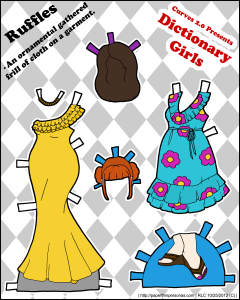dictionary paper doll
